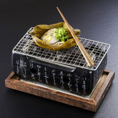 牡蠣の昆布巻き焼き